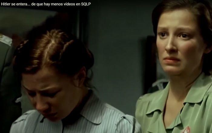 Hitler se entera… de que hay menos vídeos en SQLP