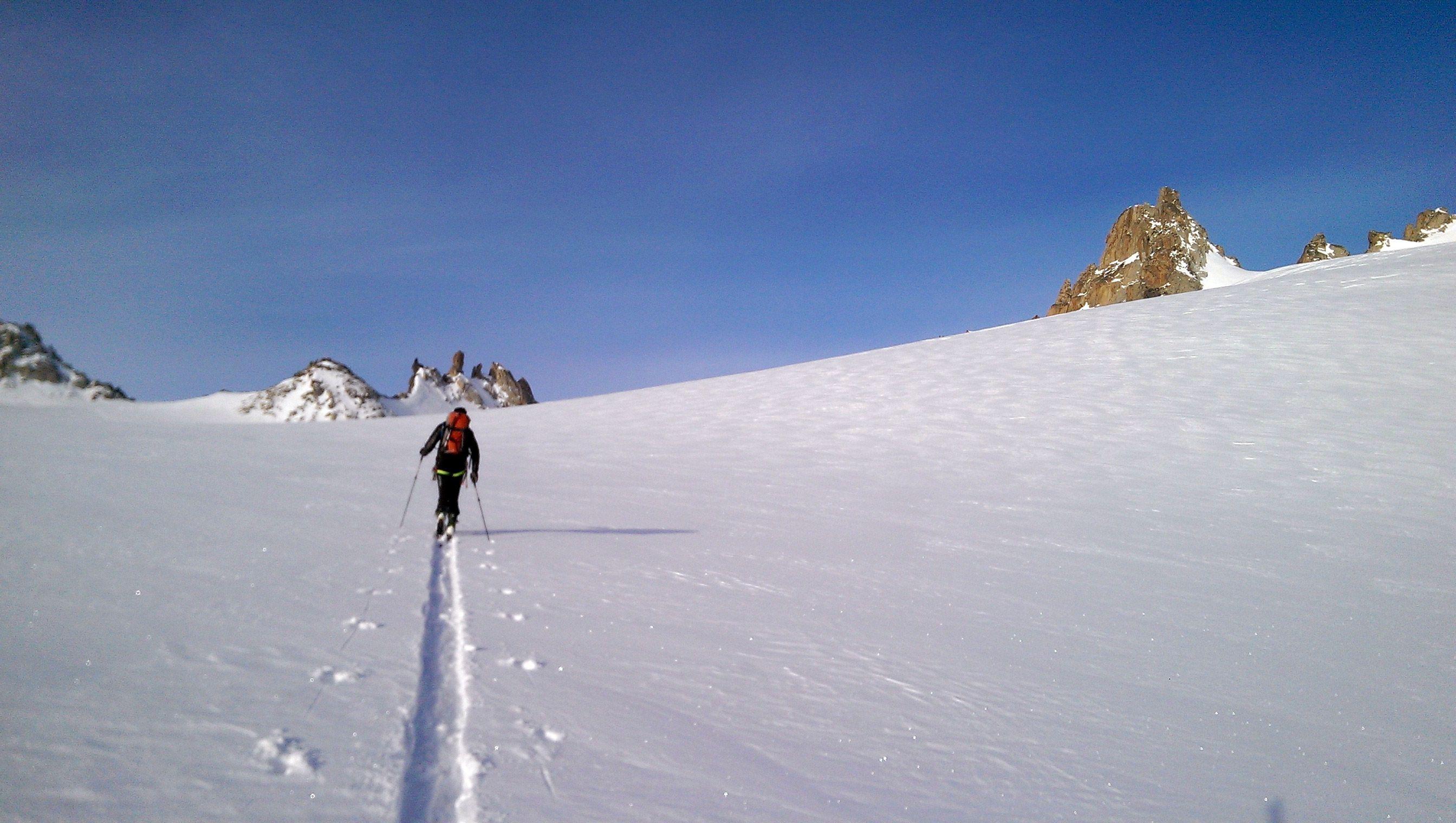 AlbertoEpic cruzando el plateau de Trient