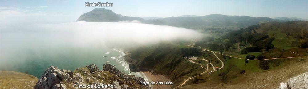 Vista hacia el Este desde la cima de La Peña